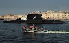 "Picture holiday, Saint Petersburg, submarine, electric, diesel, SSK, the project 636.3, ""Krasnodar"""