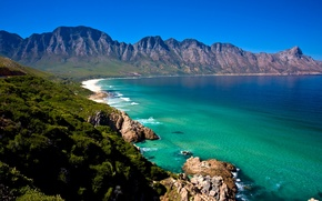 Picture sea, forest, shore, coast, mountain, Africa, South, Cape Town