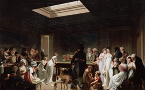 Picture people, the game, Billiards, Boilly