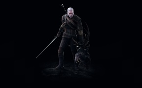 Picture Sword, Head, Geralt, the witcher 3 wild hunt, The Witcher 3 wild hunt