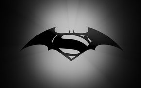 Wallpaper Batman, Logo, Superman, Batman vs Superman