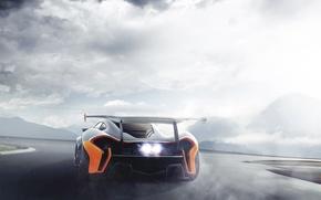 Picture McLaren, Car, Race, GT3, Supercar, Spoiler, Rear