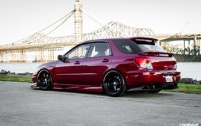 Wallpaper wheels, WRX Wagon, stance, subaru, tuning, purple, Subaru