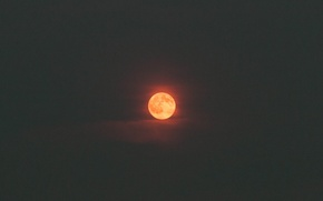 Picture the sky, clouds, darkness, fire, the moon, red moon, full moon