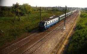 Wallpaper view, landscape, train