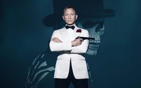 Wallpaper Action, Red, Gun, Daniel Craig, 007, Sake, White, James, Roses, Boy, James Bond, Year, EXCLUSIVE, ...
