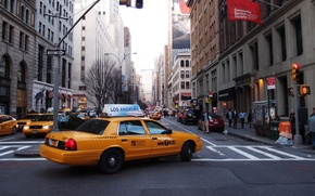 Wallpaper street, taxi, new York, New York