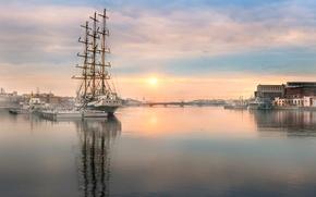 Picture spring, Saint Petersburg, Neva