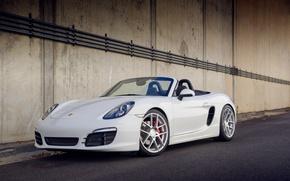Picture white, Porsche, before, white, Porsche, Boxster S, 981