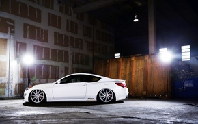 Picture white, side, Hyundai, vossen, Genesis, 3.8