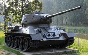 Wallpaper monument, tank, average, T-34-85