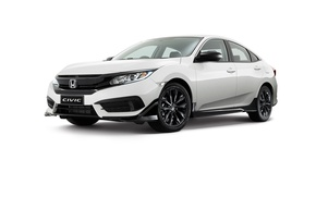 Picture white background, Honda, Honda, Sedan, Civic, civici