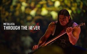 Picture guitarist, robert trujillo, Metallica Through the Never