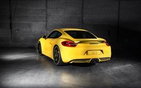 Picture yellow, Porsche, Cayman, Porsche, TechArt, Caiman