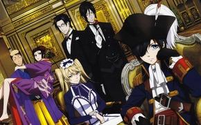 Wallpaper girls, hat, kimono, kuroshitsuji, Ciel, Dark Butler