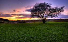 Wallpaper landscape, sunset, spaces