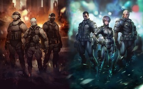 Picture Ghost in the Shell, Saito, Ghost in the shell, Motoko, Batou, Bateau, Saito, Motoko