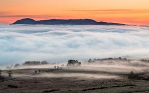 Picture Sunrise, Fog, Loch Leven