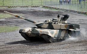 Picture dust, disguise, T-90MS, Russian tank, in the Cape