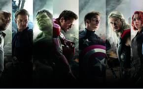 Picture Scarlett Johansson, Heroes, Hulk, Iron Man, The, Captain America, Team, Thor, Black Widow, Robert Downey ...