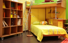 Picture photo, room, bed, interior, children's