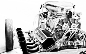 Picture engine, Corvette, Chevrolet, engine, motor