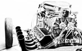 Picture engine, Corvette, Chevrolet, engine, motor