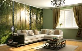 Wallpaper design, style, room, interior, living room