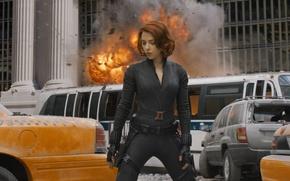 Picture the film, Scarlett, the Avengers, Johansson