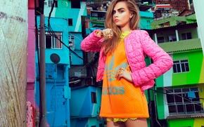 Picture photoshoot, Cara Delevingne, Vogue magazine