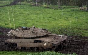 "Picture rain, tank, combat, Merkava, Israel, ""Merkava"""