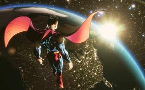 Picture space, superman, cloak