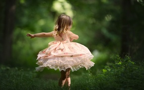 Picture nature, mood, dance, dress, girl