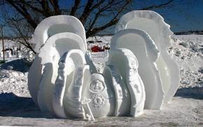 Picture snow, Winter, key, dolls