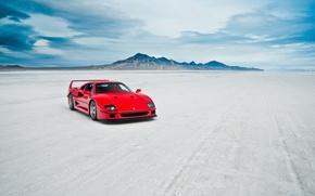 Picture machine, lake, Ferrari F40