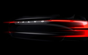 Picture Red, Volvo, Volvo, Black, Lights, Back, Blur
