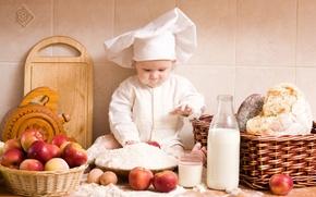 Picture child, kitchen, cook