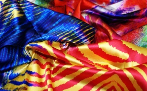 Picture color, blue, red, yellow, pattern, Shine, fabric, folds, silk, textiles, motley