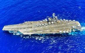Picture weapons, army, Navy, aircraft carrier, USS Ronald Reagan (CVN 76), PACIFIC OCEAN