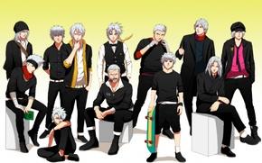 Wallpaper naruto, art, guys, anime, hatake kakashi, skate, all walker, smoker, devil may cry, killua zaoldyeck, ...