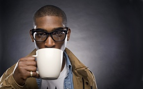 Picture Glasses, Mug, The dark background, Tinie Tempah