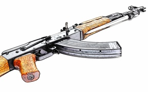 Picture weapons, background, machine, Kalashnikov, AKM