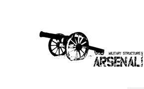 Picture logo, emblem, gun, The, Arsenal, the gunners, Gunners1