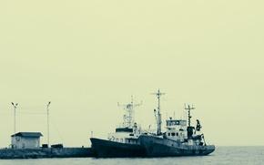 Picture Pierce, The ship, Kerch, Taman, aesthetics, Fishing, mood. black and white, Taman Bay, B & …