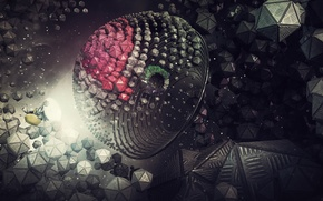 Picture space, abstraction, render, digital art, hq Wallpapers, links