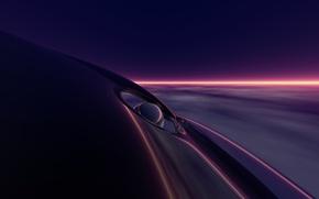 Picture light, darkness, strip, deep purple