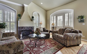 Picture design, room, furniture, interior, fireplace, design, interior