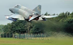 Wallpaper F-4E, Phantom II, multipurpose, the rise, Phantom II, fighter