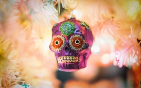 Picture toy, skull, tree, new year, Christmas
