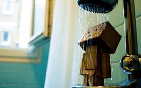Picture robot, shower, Danbo, robot